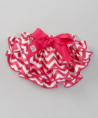 Hot Pink Zigzag Glam Diaper Cover - Infant
