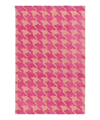 Pink & Violet Abigail Houndstooth Rug