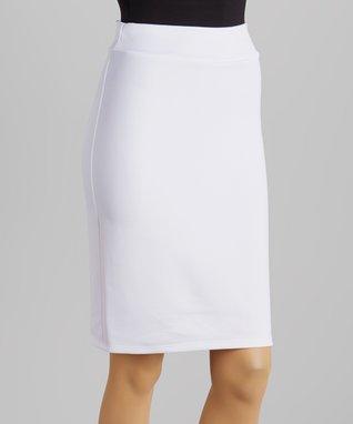 Avital White Pencil Skirt