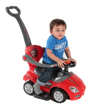 Best Ride On Cars Red 3-in-1 Push Car