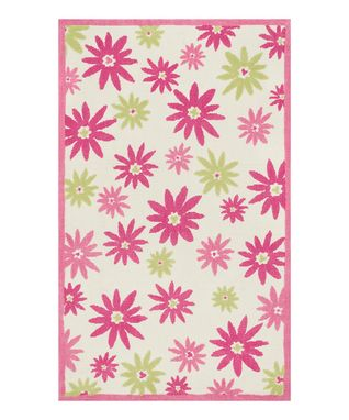 Pink & Green Floral Piper Rug