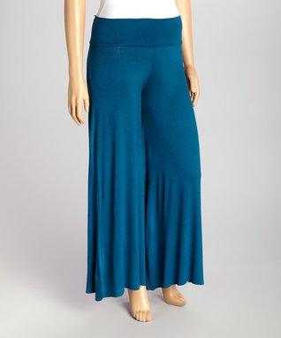 Cobalt Gaucho Pants - Plus