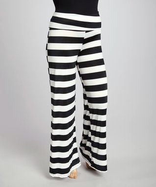Coral & Blue Animal Straight-Leg Pants - Plus