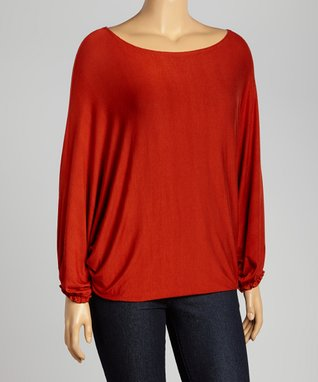 Turquoise Ruched V-Neck Top - Plus