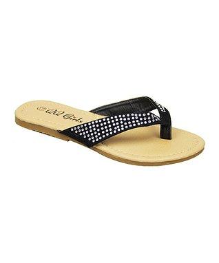 Black Crisscross Strappy Sandal