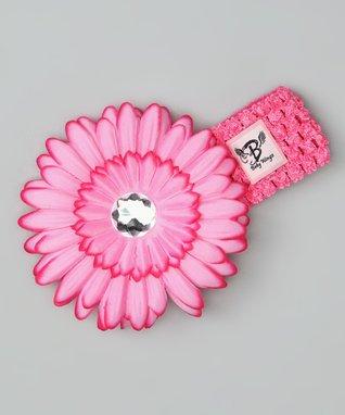 Light Pink Rhinestone Flower Headband
