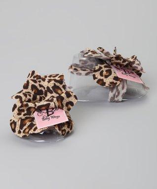 Black & Tan Leopard Barefoot Sandal