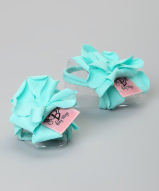 Turquoise Rose Barefoot Sandal