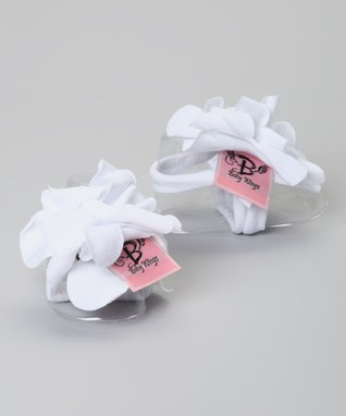 White Rose Barefoot Sandal