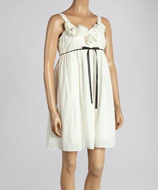 Brown Ruffle Sleeveless Dress