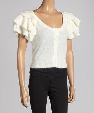 Cream Lace Sleeveless Dress