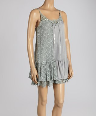 Ivory Silk-Blend Cape-Sleeve Dress