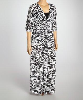 Brown Leopard Surplice Dress - Plus