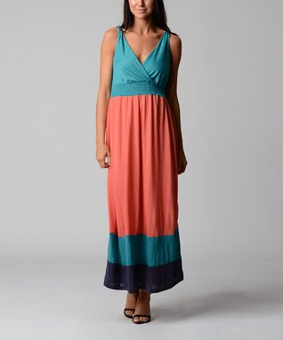 Crab Shell Surplice Maxi Dress