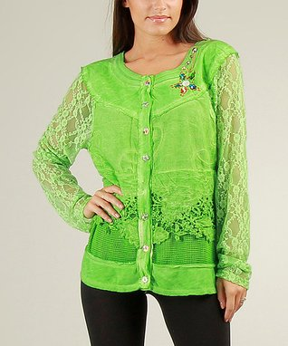 Green Lace Latika Jacket