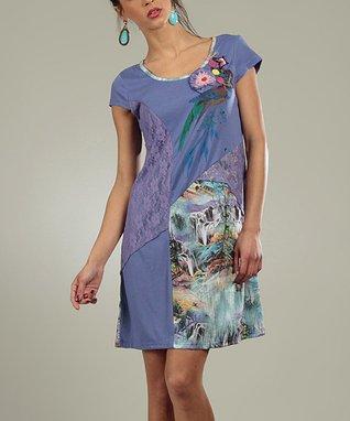 Violet Lace Mona Scoop Neck Dress