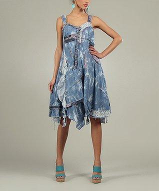 Blue Clara Sweetheart Dress