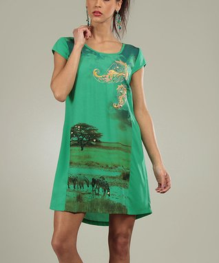Green Tableau Eddy Scoop Neck Dress