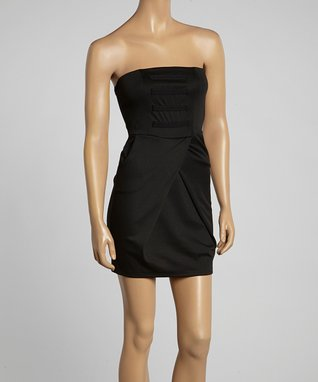 Avital Black Strapless A-Line Dress