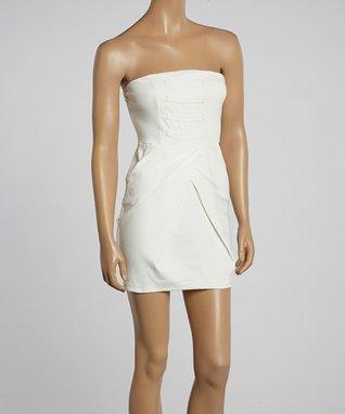 Avital White Strapless A-Line Dress