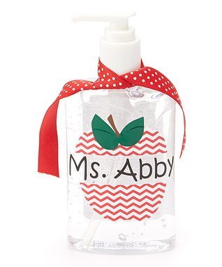 Red Zigzag Apple Personalized Dispenser