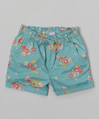 Apollo Blue Floral Shorts - Girls
