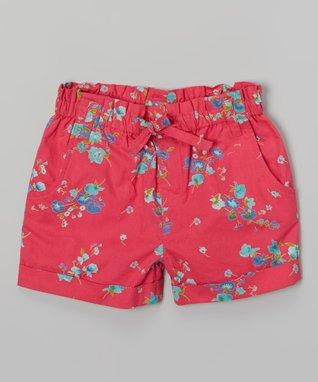 Apollo Fuchsia Floral Shorts - Girls