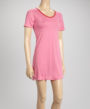 Bottoms Out Gal Rose V-Neck Sleep Tee