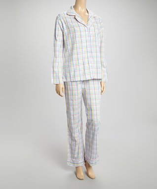Bottoms Out Gal Blue & Pink Gingham Chemise Nightgown