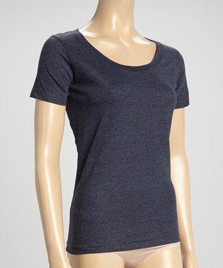 Bottoms Out Gal Denim Blue Short-Sleeve Scoop Neck Pajama Top