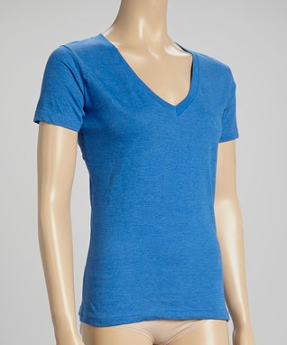 Bottoms Out Gal Blue V-Neck Short-Sleeve Pajama Top
