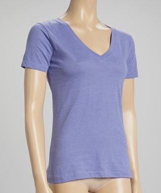 Bottoms Out Gal Light Purple V-Neck Short-Sleeve Pajama Top