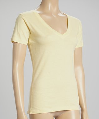 Bottoms Out Gal Lemon V-Neck Short-Sleeve Pajama Top