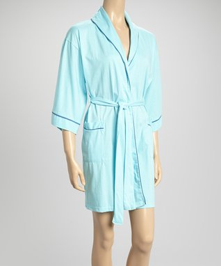 Bottoms Out Gal Light Turquoise Robe