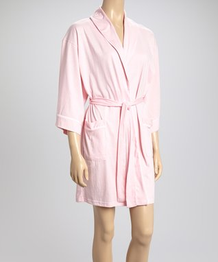 Bottoms Out Gal Light Pink Robe