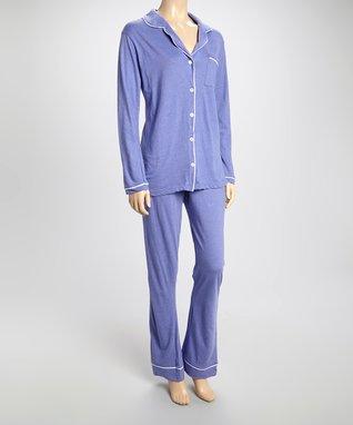 Bottoms Out Gal Light Purple & White Jersey Pajama Set