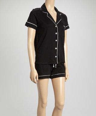 Bottoms Out Gal Black Jersey Pajama Set