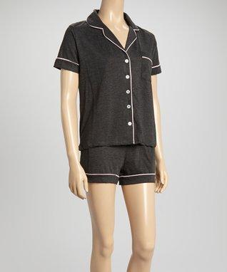 Bottoms Out Gal Charcoal Jersey Pajama Set