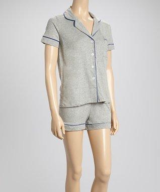 Bottoms Out Gal Light Heather Gray Jersey Pajama Set