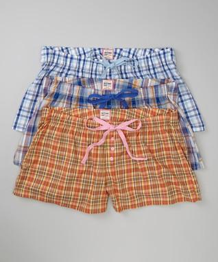 Bottoms Out Gal Light Pink & White Jersey Pajama Set