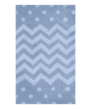 Gray Zigzag Rug