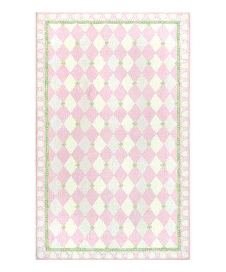 Pink & Green Harlequin Rug