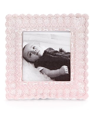 Pink Lace Resin Frame