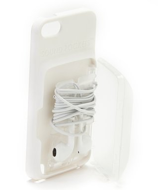 White Earbud Storage Case for iPhone/iPod Touch
