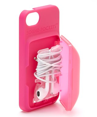 Pink Earbud Storage Case for iPhone
