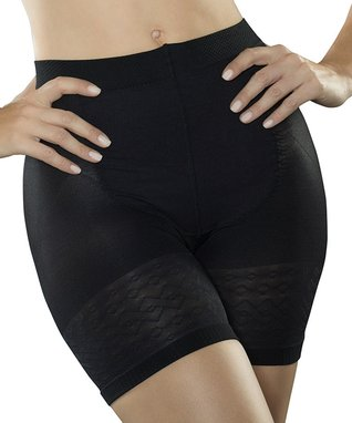 Black Thermal Shaper Shorts - Women
