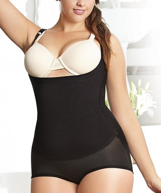 Black High Hugger Thermal Shaper Bodysuit - Plus
