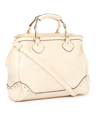 MKF Collection Beige Marissa Shoulder Bag