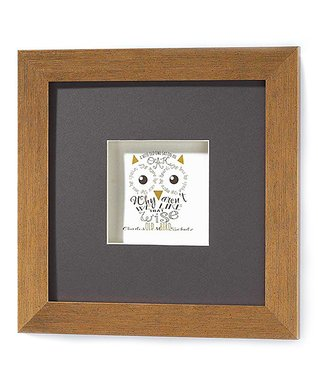 Owl Shadow Box Wall Art