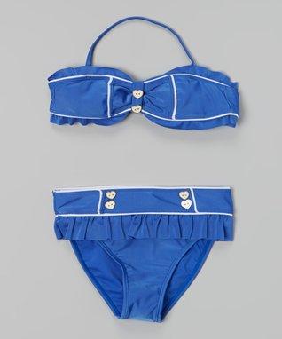 Blue Hearts Bikini - Girls